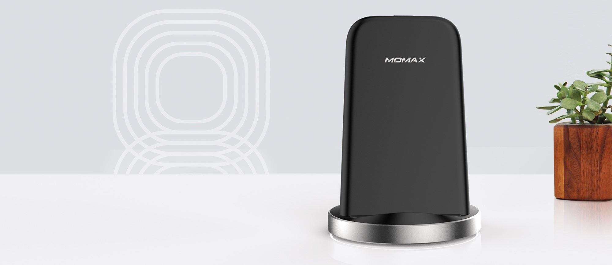 Momax fast wireless charger black