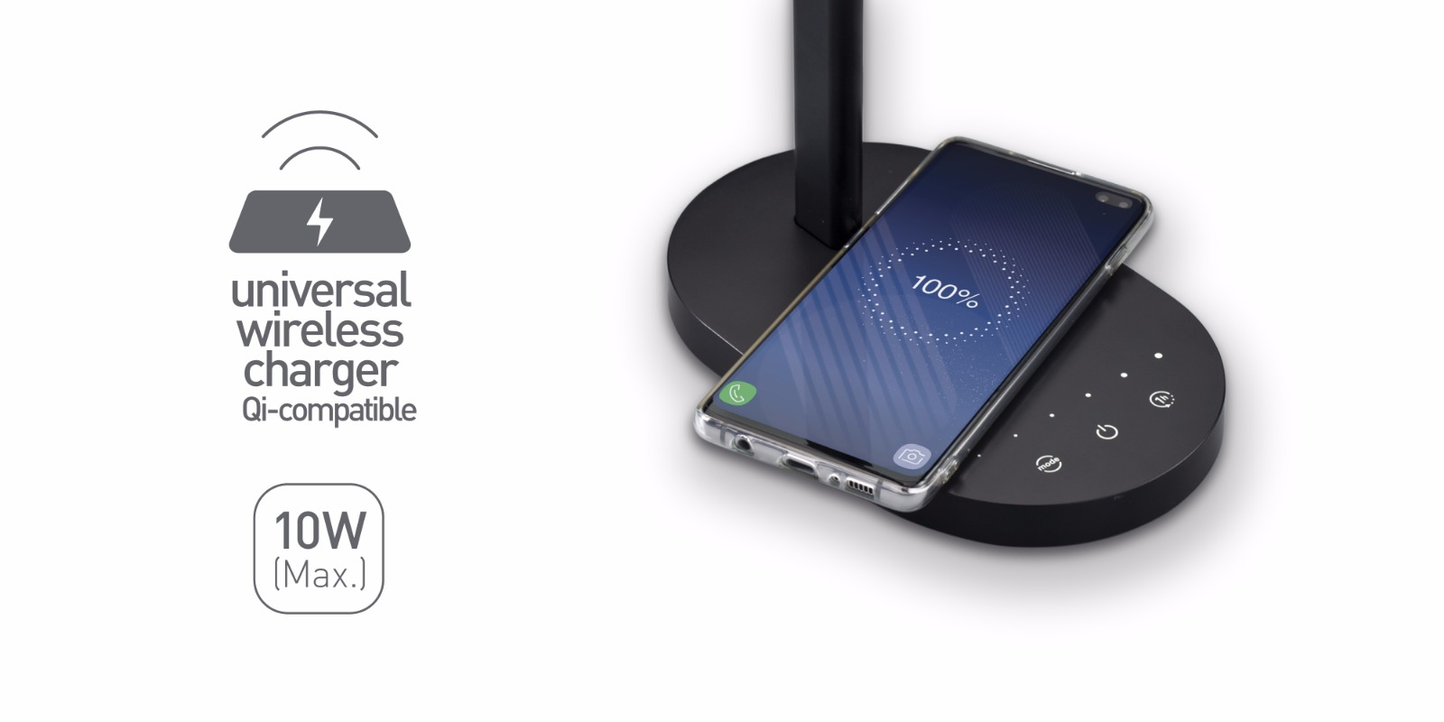 Universal wireless charger for QI-compatible devices