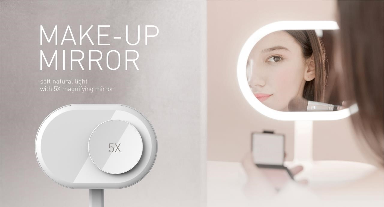 Make Up Mirror soft natural light with 5X magnifying mirror