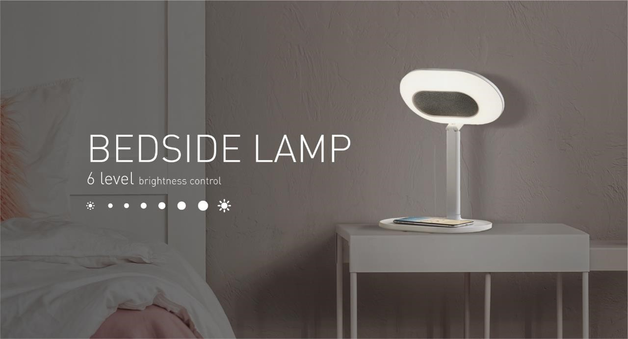 Bedside lamp with 6 level of brightness control