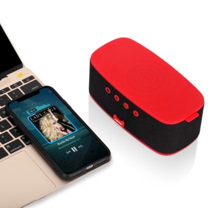 Q.Zonic Wireless Charging with Bluetooth Speaker Red