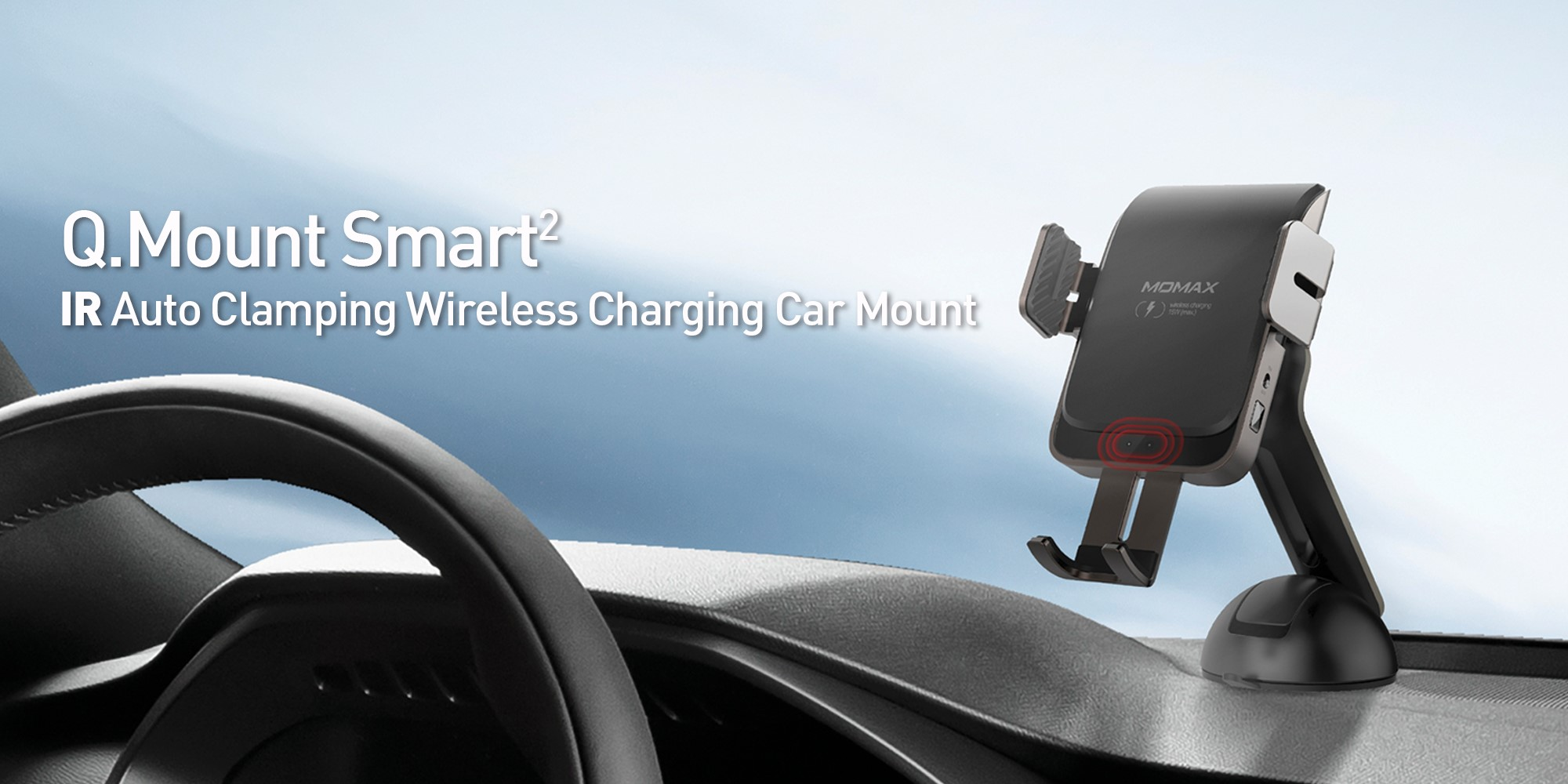 Momax Mount Smart Clamping Wireless Charging