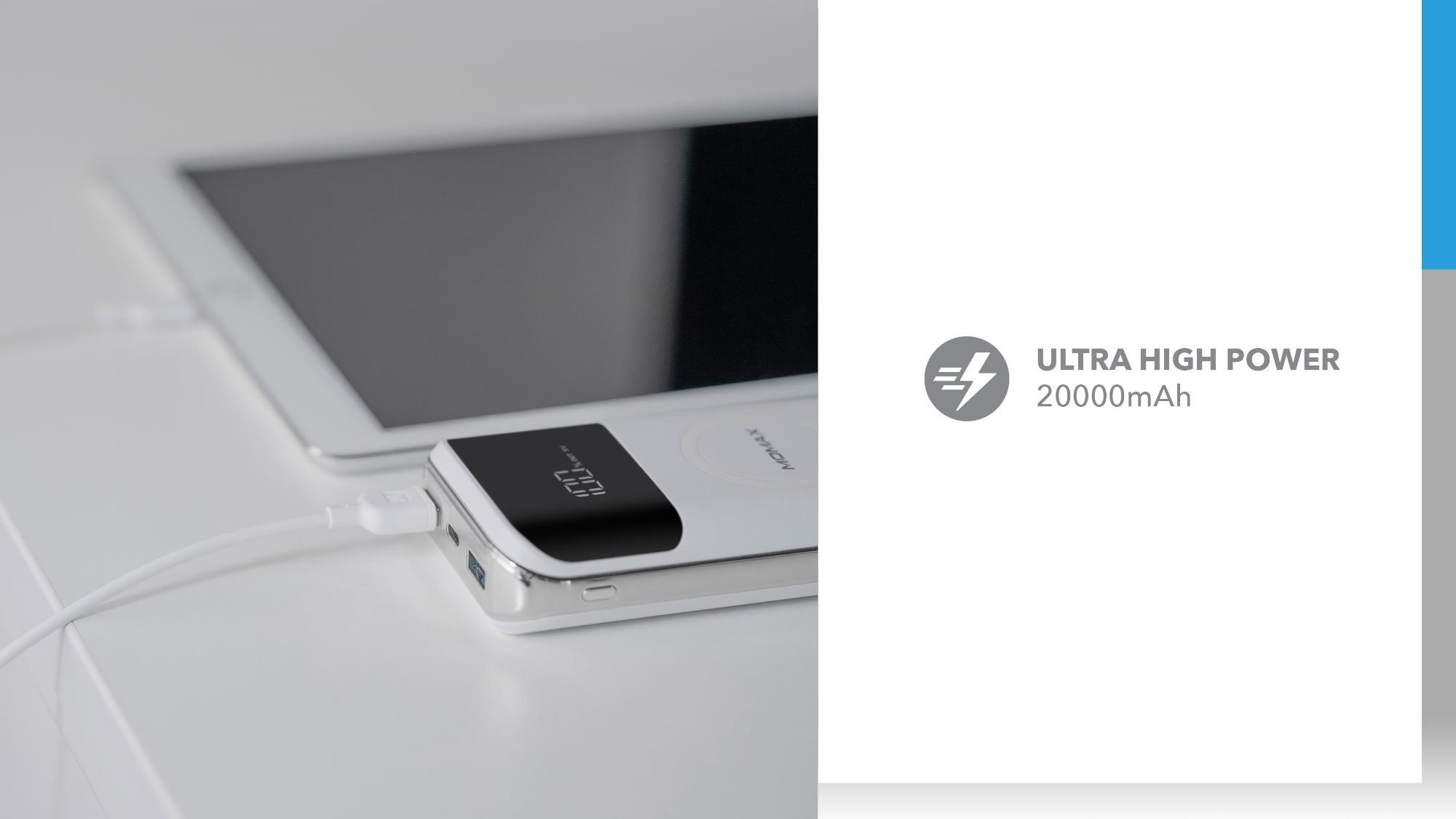 Q.Power Air 2+ Wireless External Battery Pack: Ultra High Power 20000mAH