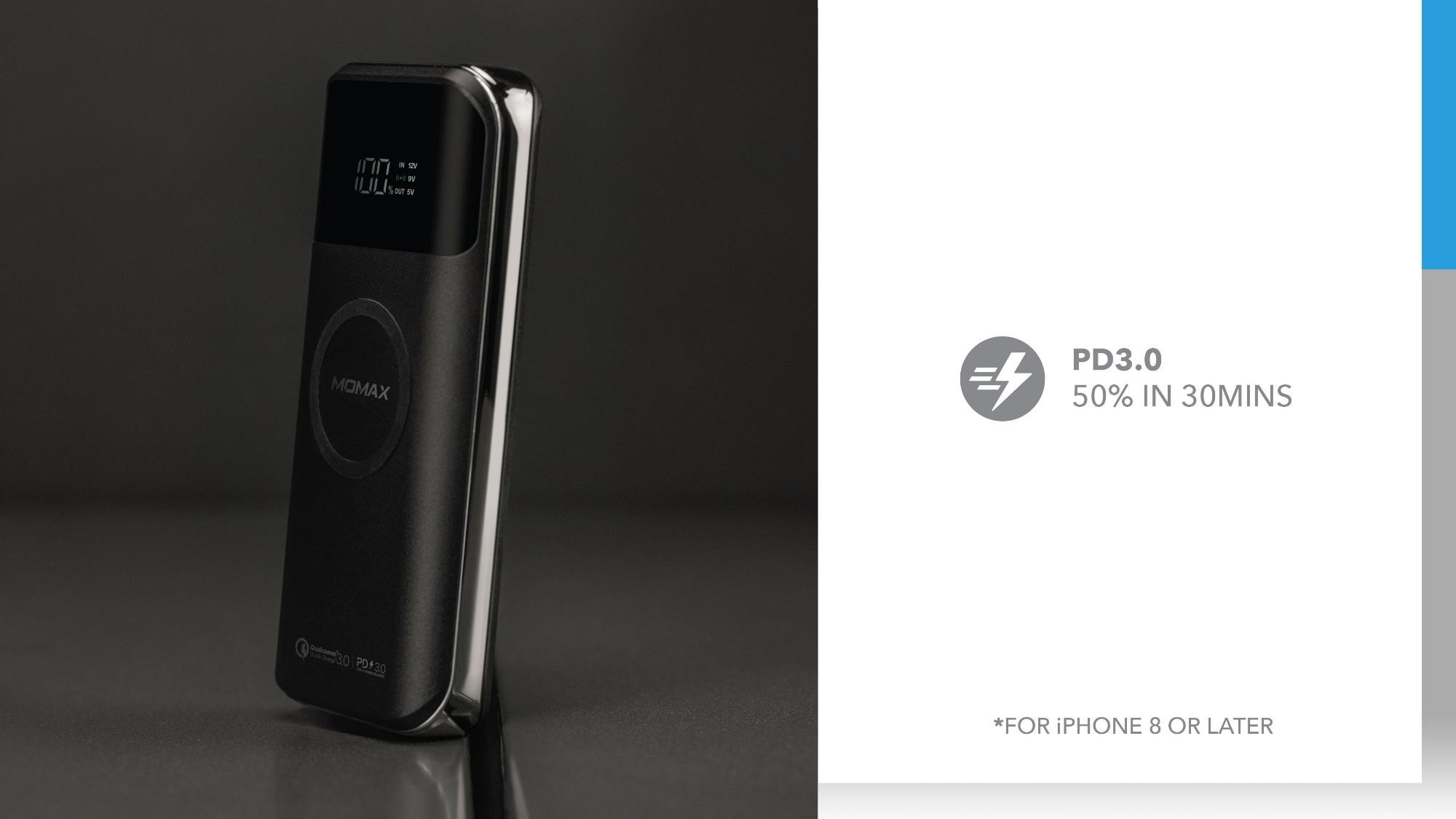Q.Power Air 2+ Wireless External Battery Pack: PD3.0 50% in 30minutes
