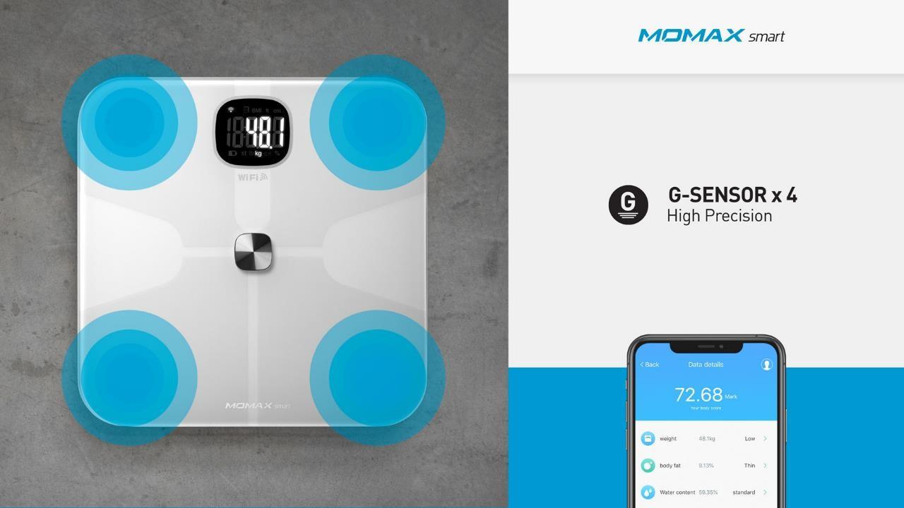 Momax HeaIth Tracker IoT Body Scale G Sensor