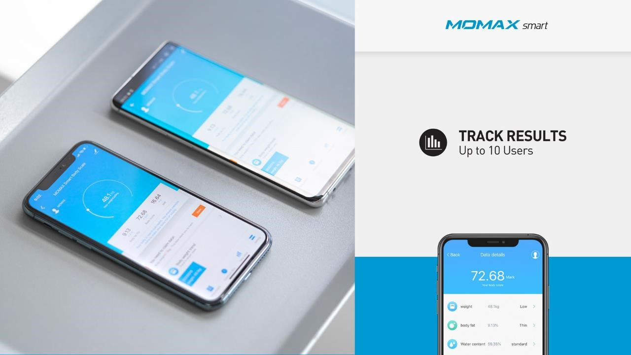 HeaIth Tracker IoT Body Scale Momax Result Tracker