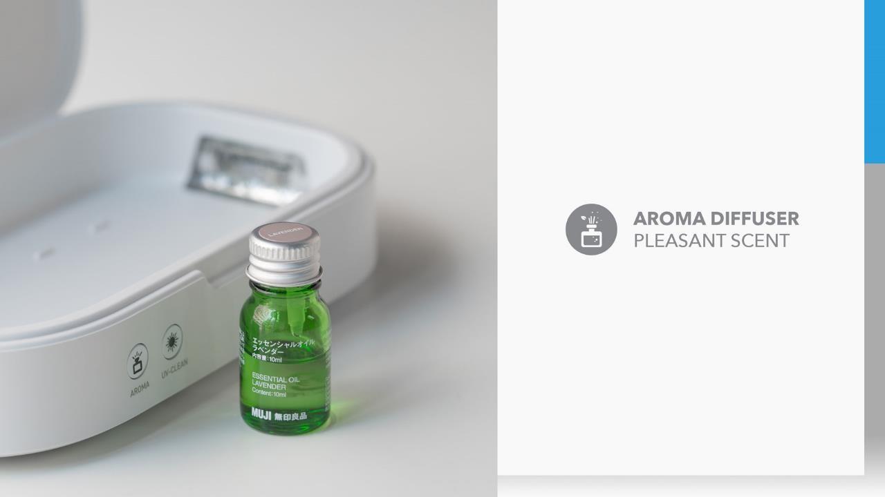 UV Box Minimal UV Sanitiser with aroma diffuser
