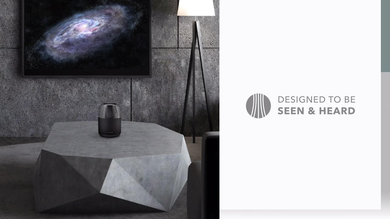 Momax Space Wireless Speaker on a table