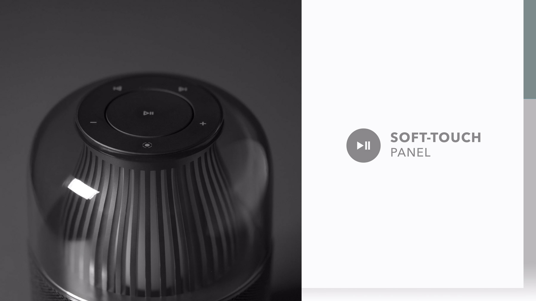 Momax Space Wireless Speaker - Soft Touch Panel feature