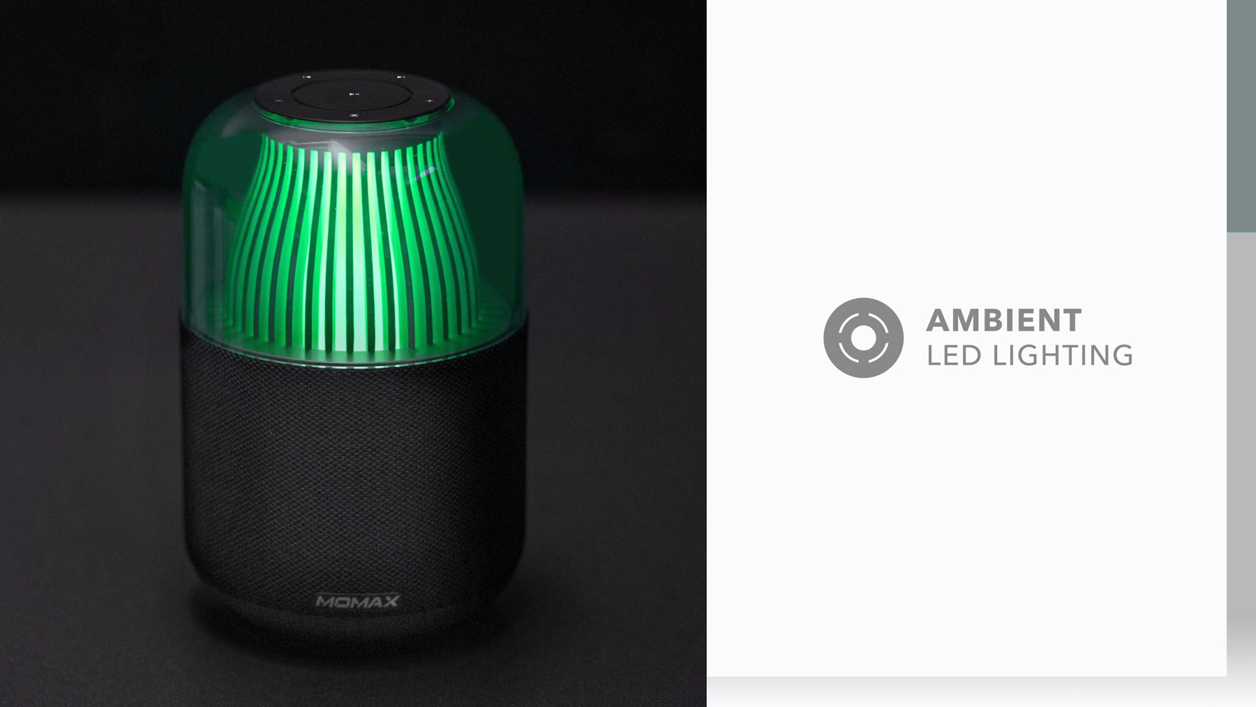 Momax Space Wireless Speaker with Ambient LED lighting