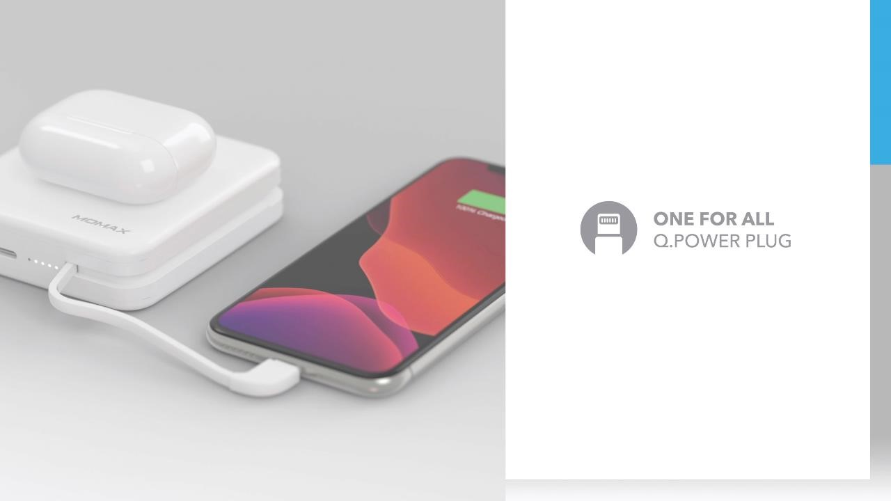Momax Q. Power Plug Wireless Portable PD Charger (MFi Version): One for All Q. Power Plug