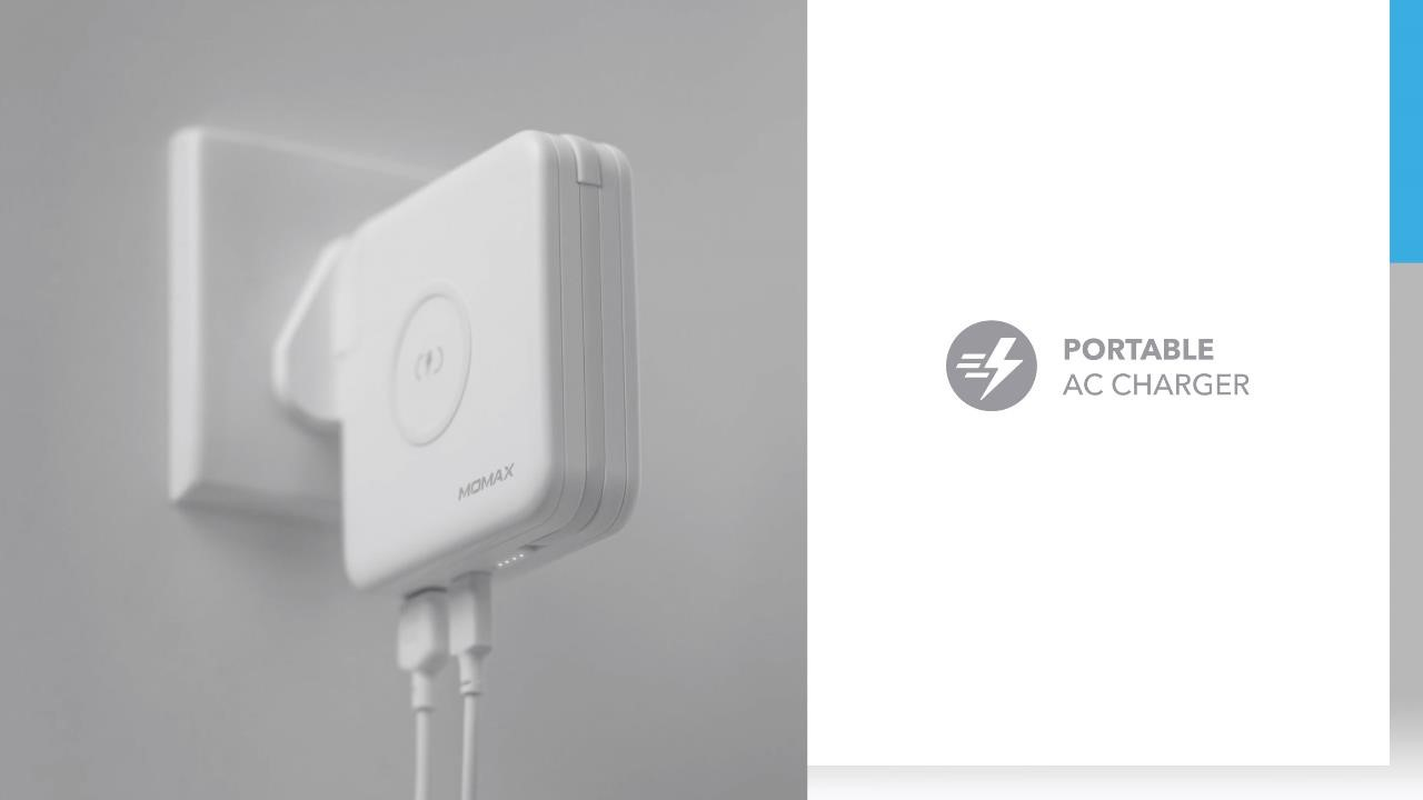 Q. Power Plug Wireless Portable PD Charger (MFi Version): Portable AC Charger