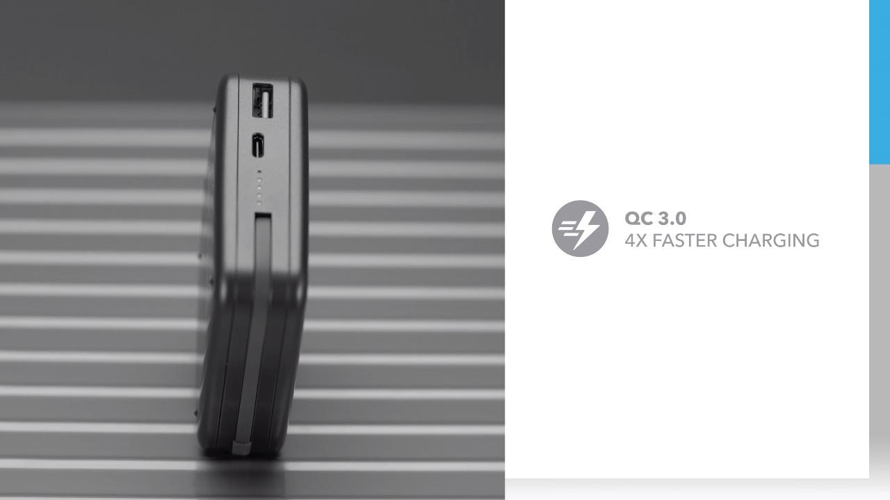 Q. Power Plug Wireless Portable PD Charger (MFi Version): QC 3.0 4X Faster Charging