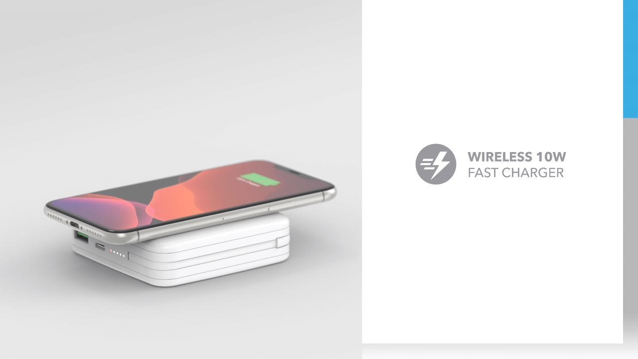 Q. Power Plug Wireless Portable PD Charger (MFi Version): Wireless 10W Fast Charger