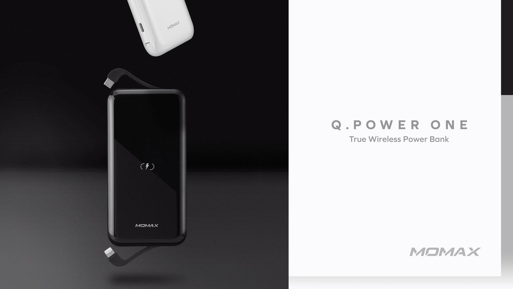 Momax Q. Power One Dual Wireless External Battery Pack: Q Power One True Wireless Power Bank