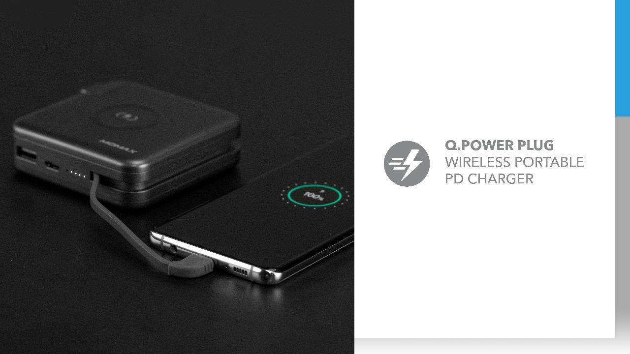Momax Wireless Portable PD Type C Charger: Q.Power Plug Wireless Portable PD Charger